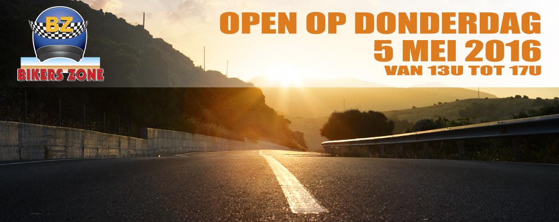 Open op 5mei!